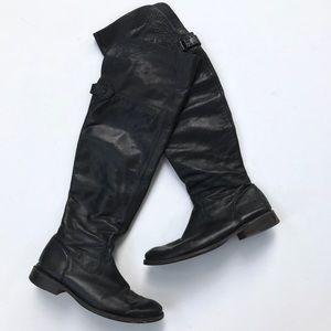 Frye SHIRLEY OTK over the knee riding boot black